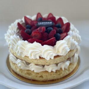 Gâteau champêtre vanille