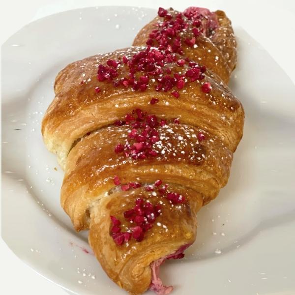 Croissant framboises
