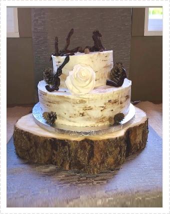 Gâteau bois sans gluten