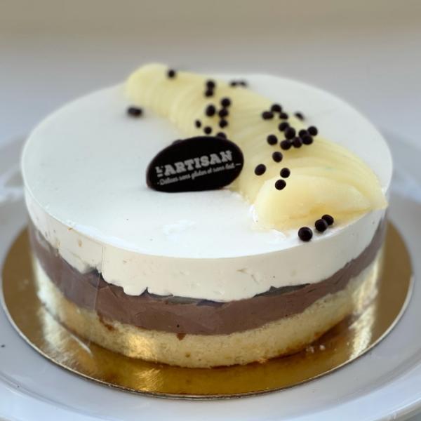 Gâteau mousse chocolat poire